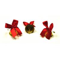 Колокольчики на выпускной - Колокольчик для выпускника с красной атласной ленточкой