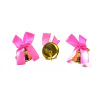 Колокольчики на выпускной - Колокольчик для выпускника с розовой атласной ленточкой
