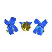 Колокольчики на выпускной - Колокольчик для выпускника с голубой атласной ленточкой