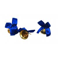 Колокольчики на выпускной - Колокольчик для выпускника с синей атласной  ленточкой