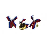 Колокольчики на выпускной - Колокольчик для выпускника с триколорной атласной ленточкой
