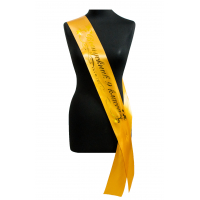 Ленты для выпускников 9 класса - Ленты Выпускник 9-го класса (золотая, атлас)