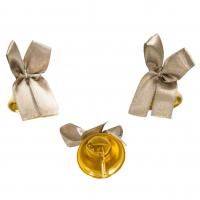 Колокольчики на выпускной - Колокольчик для выпускника с серебряной атласной ленточкой