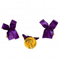 Колокольчики на выпускной - Колокольчик для выпускника с сиреневой атласной ленточкой