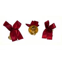 Колокольчики на выпускной - Колокольчик для выпускника с бордовой атласной ленточкой