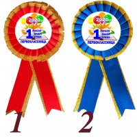 Розетки для Первоклассников - Значок-розетка - Первоклассница 2021 -  1... класс (117 с золотом)