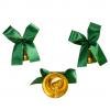 Колокольчики на первый звонок - Колокольчик для первоклассников с зеленой атласной ленточкой